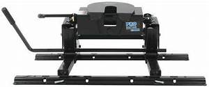 Pro Series 5th Wheel Hitch W   Square Tube Slider  Rails And Install Kit - Slide Bar Jaw