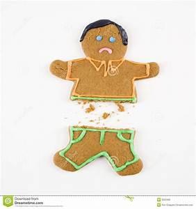 Broken Gingerbread Man. Stock Photo - Image: 3533400