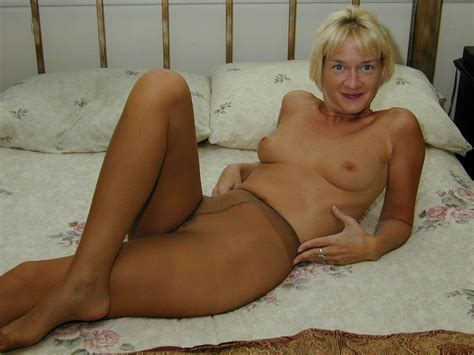 Blonde Mature Beth In Pantyhose And Stockings Picture 1