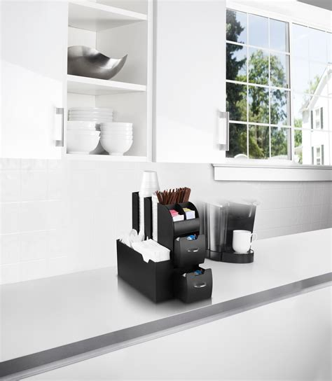 Do you assume home coffee station organizer appears to be like nice? Coffee Stand Station Condiment Organizer Caddy Cup Lids Dispenser K Cups Holder | eBay