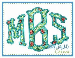 applique corner applique design caroline ii applique font With applique letters embroidery designs