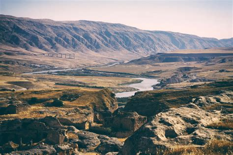 landscape  river valley  turkey image  stock