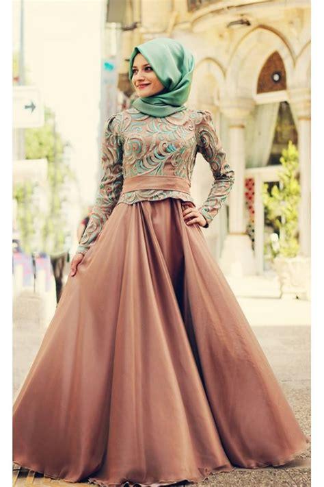 dress gamis muslim elegan 2015 kış tesettür abiye modası ortuluyum tesettür