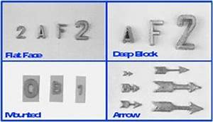 film markers With unmounted lead letters