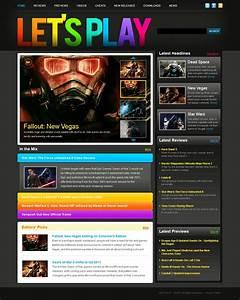 Games Website Template 39226