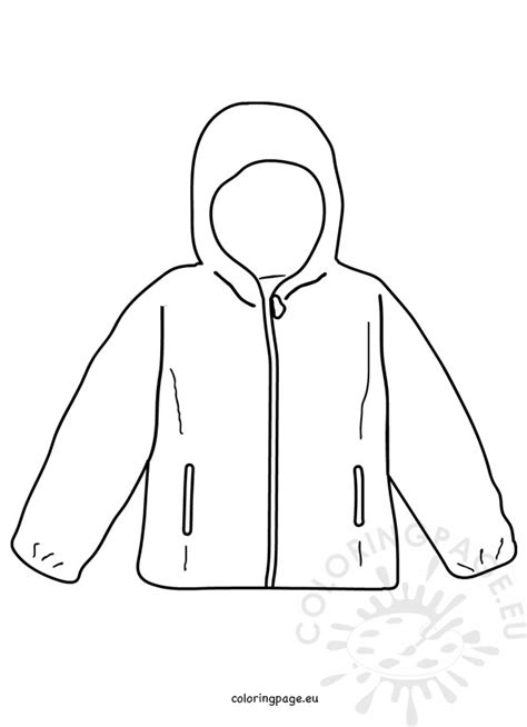 coat winter jacket template coloring page