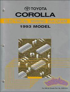 Corolla 1993 Toyota Shop Manual Service Repair Book