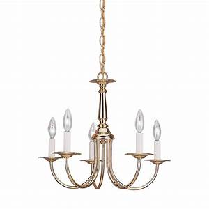 Volume lighting light polished solid brass chandelier