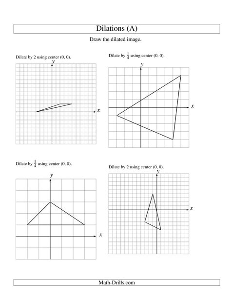 Dilations Using Center (0, 0) (a