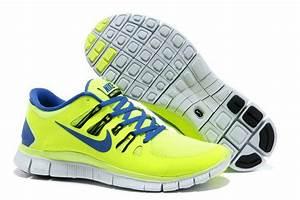 Nike Free Run 5+ Mens Running Shoes Royal Blue Neon Green ...