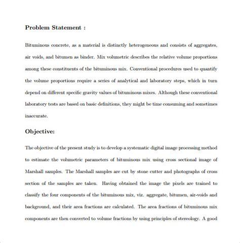 Problem Statement Template 9 Problem Statement Sles Pdf Word Sle Templates
