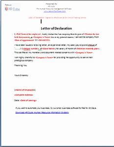 Letter of Declaration – Download Template