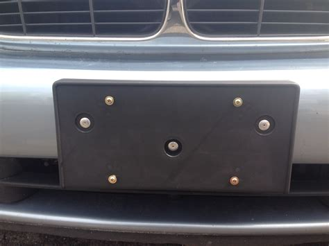 xj plinth license plate holder screws  rivets