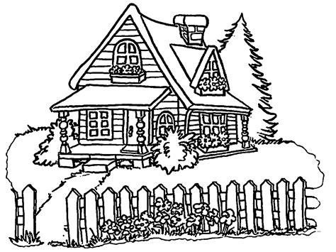 house coloring pages buildingshouses places parks