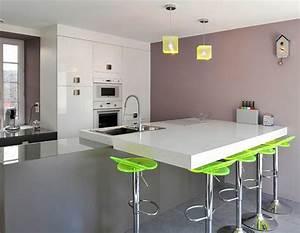 Petit Ilot Cuisine : petite cuisine ilot central cuisine en image ~ Premium-room.com Idées de Décoration
