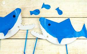 paper plate shark puppet craft kids craft room With paper plate puppets templates