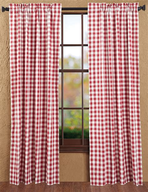 cotton curtains buffalo check curtain panels by nancy 39 s nook for