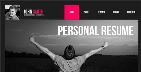 Personal Resume Website by Personal Resume Muse Web Template Muse Templates Themeforest