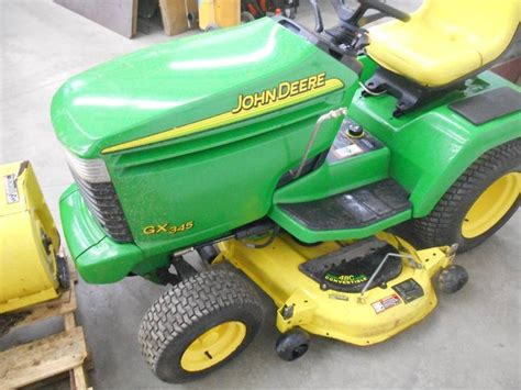 Deere Mower Deck Removal by Deere Gx345 Lawn Tractor With 42 Quot Snowblower Mower