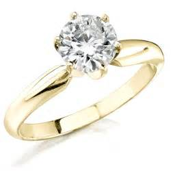 14k yellow gold solitaire engagement rings ipunya - Solitaire Yellow Gold Engagement Rings