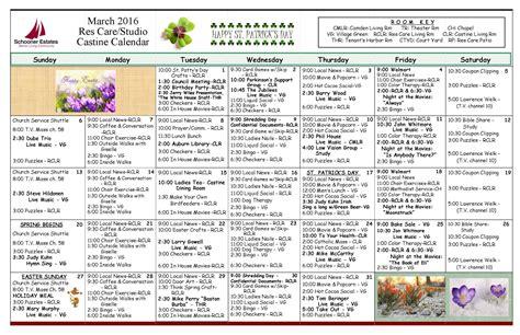 March 2016 Calendar: Maine Senior Living Communities