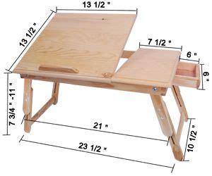 details  black adjustable folding laptop table lap