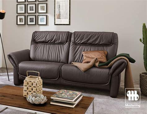 musterring   sofa  leder braun mit soft oder