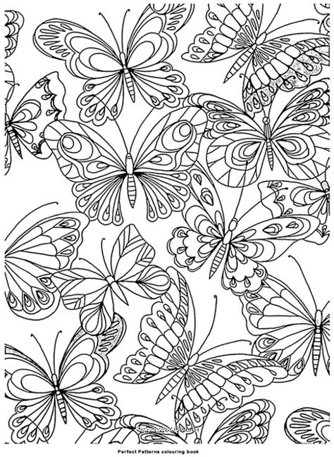 printable difficult butterfly coloring pages