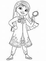 Mira Detective Royal Coloring Printable sketch template