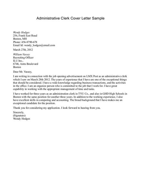 deputy clerk cover letter sle tomyumtumweb