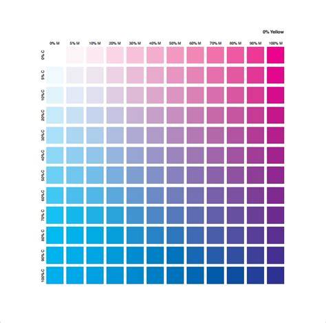 sample cmyk color chart templates