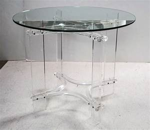 Furniture Unique Lucite Coffee Table Base For Clear Glass
