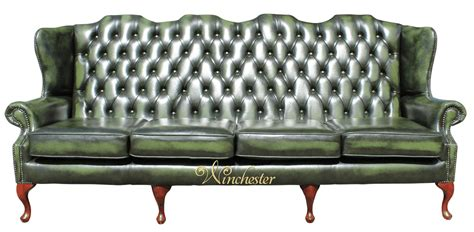 chesterfield 4 seater high back wing sofa uk