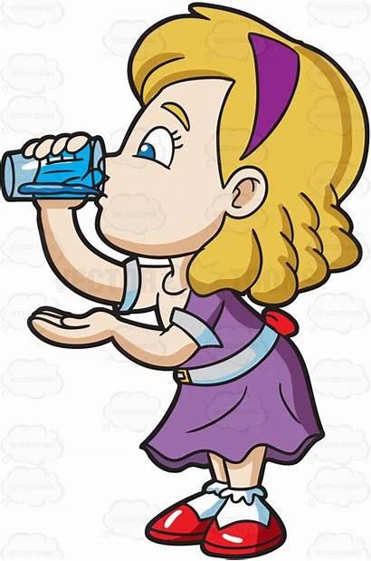 Drinking Water Clipart Glass Cartoon Clip Drinks