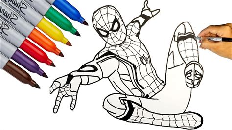 spider man spider man   home coloring pages
