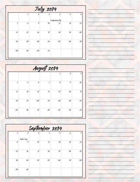 printable quarterly calendars holidays designs
