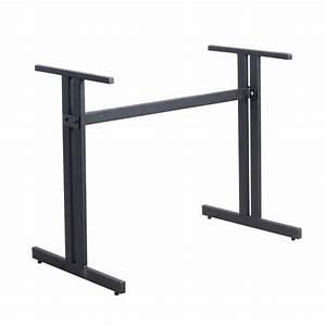 Pieds De Table Ikea : pied de table avec barre de renfort laterale en acier noir ~ Dailycaller-alerts.com Idées de Décoration