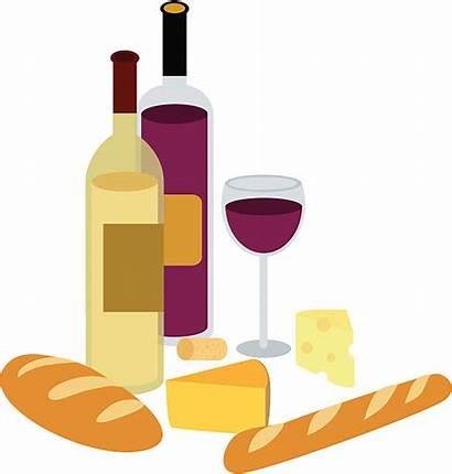 Wine Cheese Clipart Bread Clip Wein Brot
