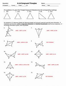 Triangle Congruence Worksheet