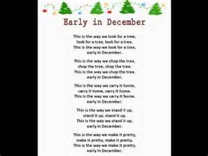 early in december christmas rhymes youtube