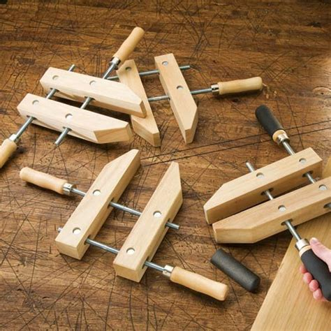 wood hand screw clamps  concord carpenter