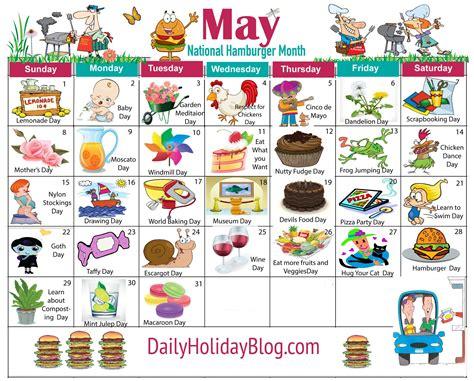 May Holiday Calendar