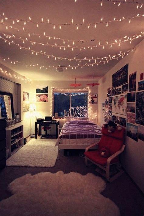 ideas lindas  decorar tu cuarto  lucecitas
