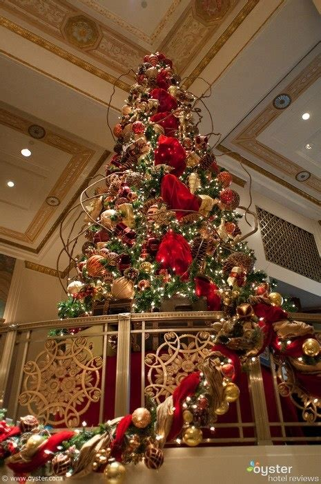 top ten hotel lobby christmas decorations new york hotels deck their halls for hotel ideas tree