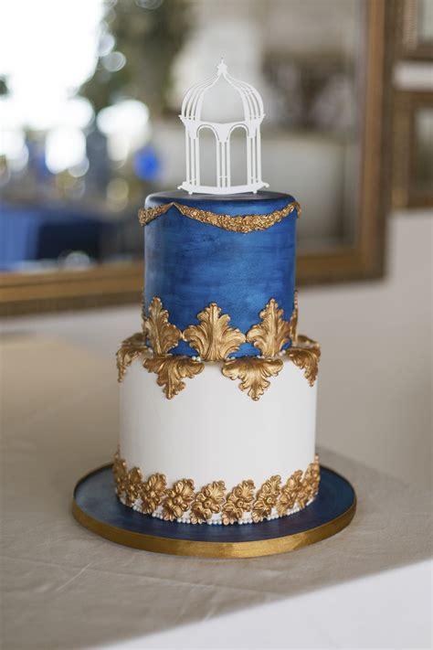 royal blue gold white grecian inspired wedding ideas