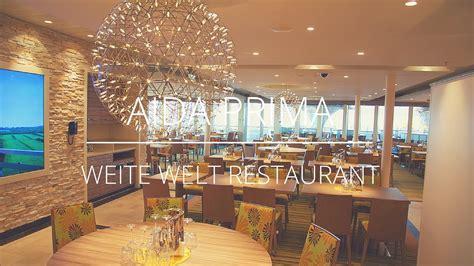 aidaprima weite welt restaurant youtube