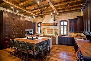 Spanish style rustic kitchen austin by palmer todd for Rustic spanish decor ideas