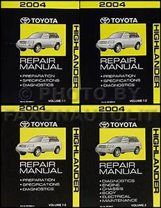 2004 Toyota Highlander Repair Shop Manual Original Set