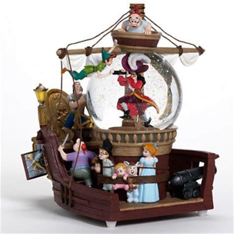 peter pan pirate ship musical snowglobe