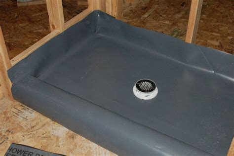 How To Install Shower Liner - how to build a tile shower pan icreatables
